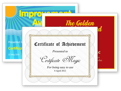 Certificate Magic   Free Certificate Generator  Free Customizable Printable Certificates Of Achievement